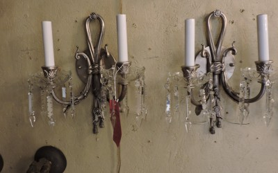 Pair Of French Silver Sconces