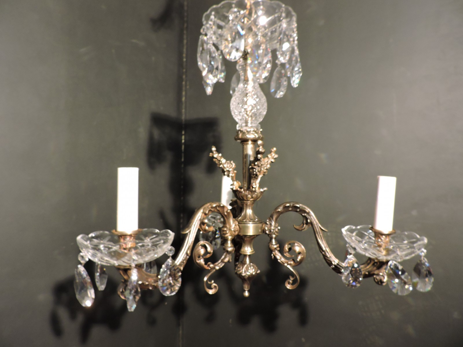 French Bronze And Crystal Chandelier - Orleans Antique