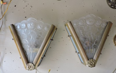 Pair of Art Deco Scoces French