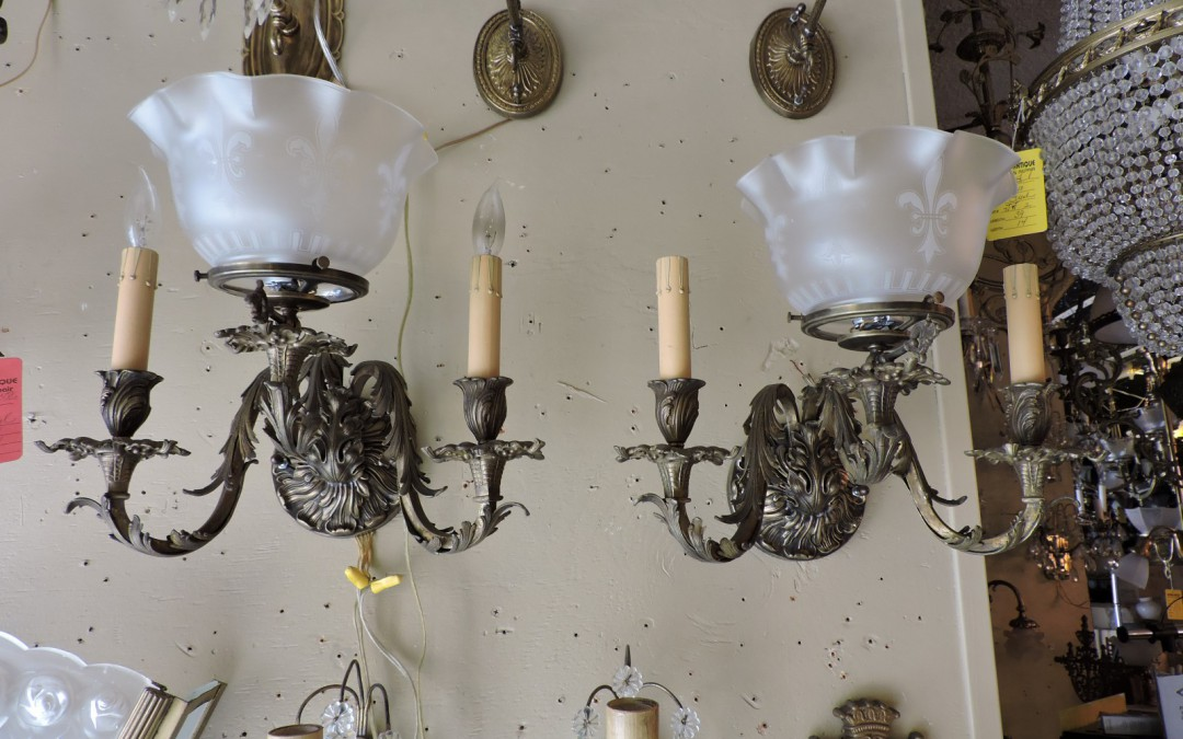 Set Of Four Gas Sconces