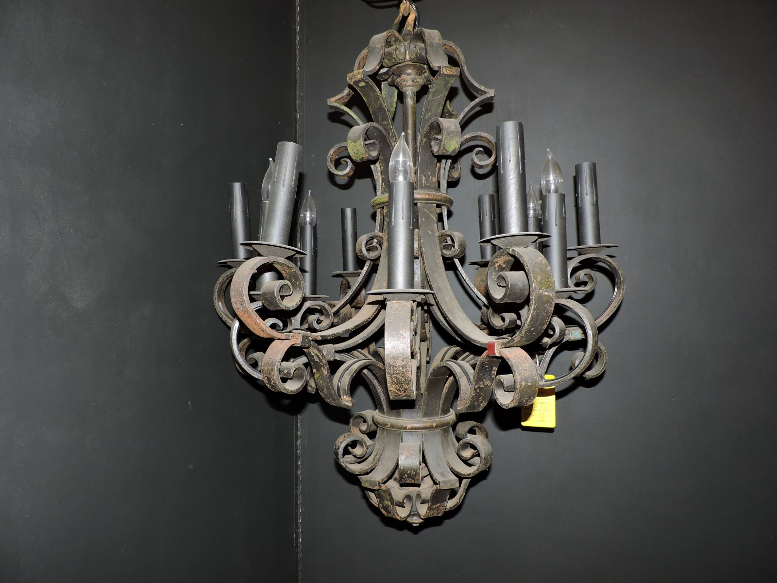 French wrought iron chandelier 1920s orleans antique lighting arubaitofo Gallery