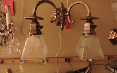 Pair Of Brass Mission Sconces