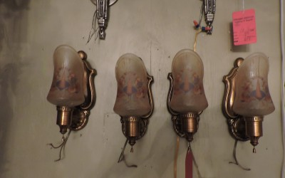 Set Of Four Deco Sconces
