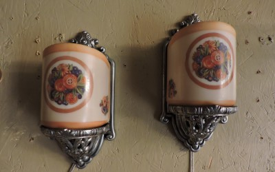 Pair Of Art Deco Sconces USA