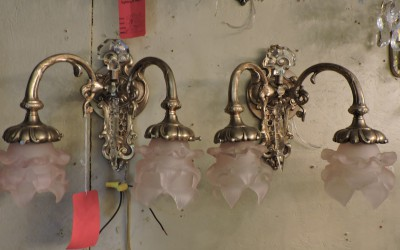 Pair Of Country French Bronze Sconces