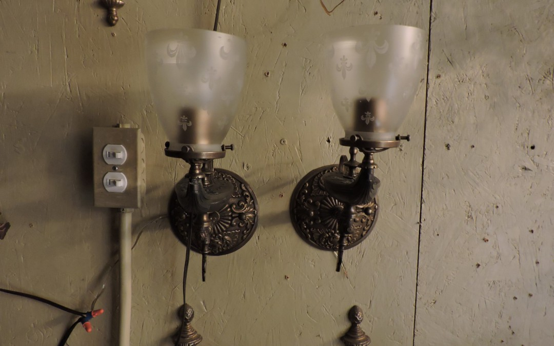 Pair Of Gas Sconces